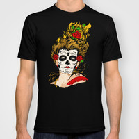 Halloween the day of the dead Skull face painting Made in USA Short sleeves tee tshirt