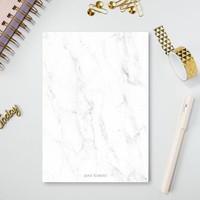 Notepad - Stationery - Marble - Business stationary - Customized Notepad -  Notepad - A5 Notepad - Customized Gift