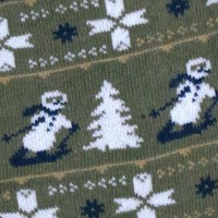 MENS COTTON SKIING SNOWMAN GREY FAIRISLE SOCKS UK 6-11 / EUR 39-45 / USA 7-12