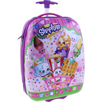 "Shopkins 16"" ABS Hard Shell Rolling Luggage Suitcase"
