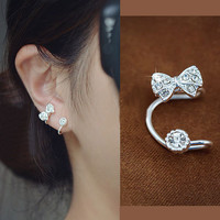 A 090626 Bowknot is ear clip earrings