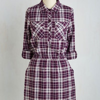 Mid-length 3 A-line In the Fiddle with You Dress in Purple