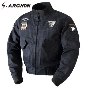 S.ARCHON Winter Warm Cotton Tactical Bomber Jacket Men Wool Liner Thick Thermal Military Coat Clothes Airborne Army Pilot Jacket