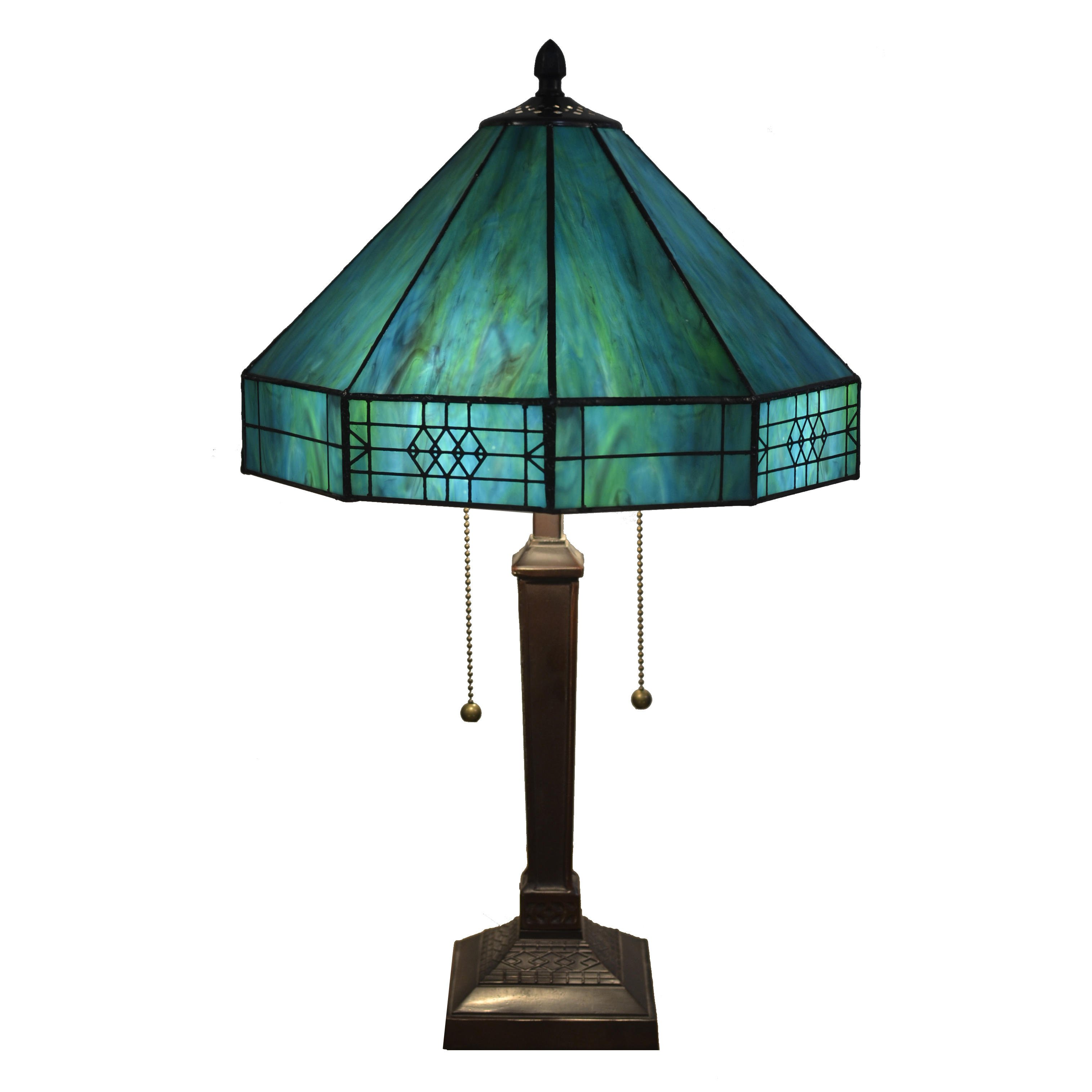 Maeve Tiffany Style 2 Light Turquoise From Overstock My