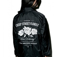 Creep Street Creepy Florist Coaches Jacket | Dolls Kill