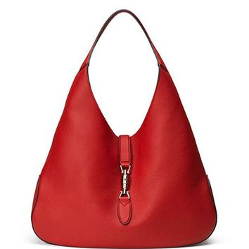 DCCKUG3 Gucci Jackie Soft Leather Medium Hobo Bag, Re