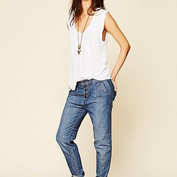 Free People Womens Elsa Relaxed Trouser - Brin