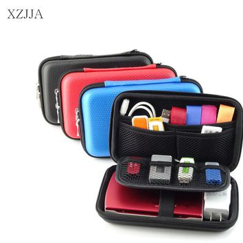 XZJJA Big Capacity Mobile Kit Storage Boxes Earphone Wire Bag Data Line Cables Storage Bins USB Cable Data Line U Disk Organizer