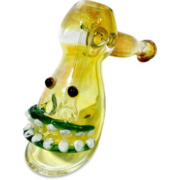 Smiley Face Glass Sherlock Bubbler