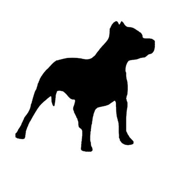 14*13.2CM Pit Bull Dog Silhouette Decoration Car Vinyl Decal Funny Lovely Animal Car Sticker Black/Silver C6-1428