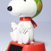 Snoopy Flying Ace Solar Bobble Head Toy