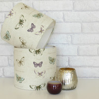 Butterfly themed table lampshade