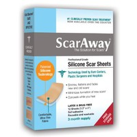 ScarAway Professional Grade Silicone Scar Treatment Sheets - Full Dr. Recommended 12 Week Supply 12 Multi-Use Patches with Free Storage Case Included