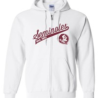 Official NCAA Florida State University Seminoles FSU Noles Est. 1851 Zip Hoodie - 43FSU-1