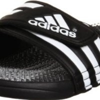 adidas Performance Men's Santiossage Slide Sandal, Black/Clear/Running White, 10 M
