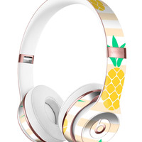 Pineapple Over Apricot Stripes Full-Body Skin Kit for the Beats by Dre Solo 3 Wireless Headphones