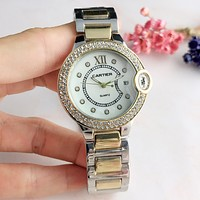 Cartier Hot Sale Trending Women Men Stylish Diamond Movement Wristwatch Business Watches