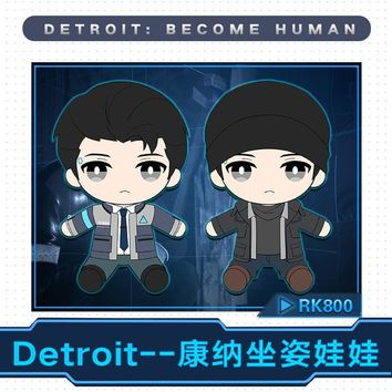Cool Detroit: Become Human Connor RK800 Plush Stuffed Pillow Doll Cushion Plushie Toy Removable Clothe Hat Cute Gift Cosplay PropsAT_93_12