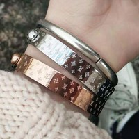LV Louis Vuitton New Fashion Popular High end Lovers Stainless Steel Bracelet