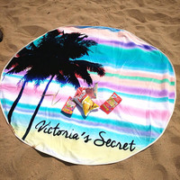 Large Microfiber Printed Round Beach Towels