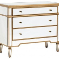 Cary Mirrored Chest - Gold