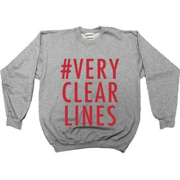 Very Clear Lines -- Women's Sweatshirt