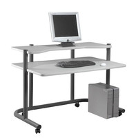 Calico Designs 48 inch Computer Workstation - Pewter