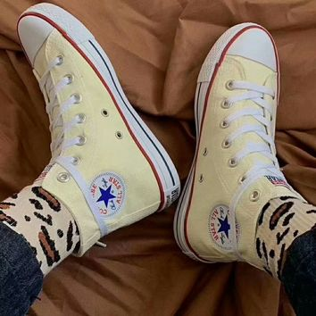 """Converse Chuck Taylor All Star"" Unisex All-match Casual High Help Canvas Shoes Couple Classic Cloth Shoes"