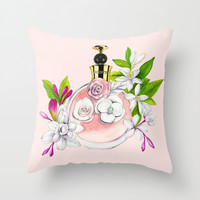perfume  Throw Pillow by Koma Art