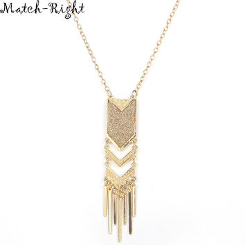 Match-Right Women Necklace Tassel Necklaces Pendants Vintage Jewelry Long Necklace Women Accessories For Gift Party NL574