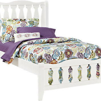 Belmar White 3 Pc Twin Sleigh Bed