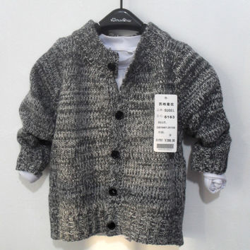 trend kids child clothing  baby boy & girls knitted sweaters wool blend fabric  boy tops cardigan jacket knitwear coat