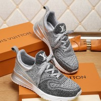 LV Louis Vuitton Silver Man Fashion Casual Sneakers Sport Shoes