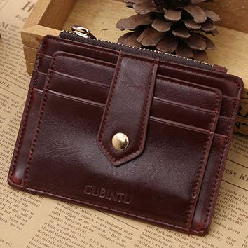 New PU leather purse With Zipper Credit Card ID Holder Money Clip woman wallet Portefeuilles de femme #Y5