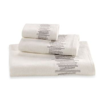 Kenneth Cole Reaction® Home Frost Embroidered Hand Towel in Ivory