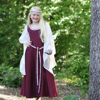 Childs Ruby Princess Costume - Lord of The Rings Style