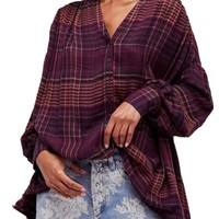 Free People Come on Over Plaid Top | Nordstrom