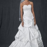 Strapless Sweetheart Pick-Up Ball Gown - David's Bridal