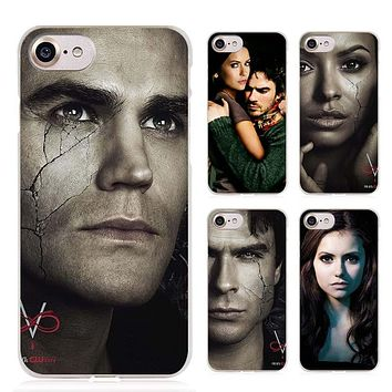 The Vampire Diaries 8 Clear Cell Phone Case Cover for Apple iPhone 4 4s 5 5s SE 5c 6 6s 7 Plus