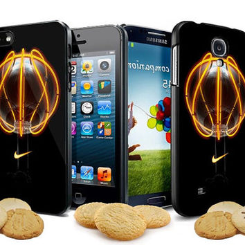 nike basketball neon logo for iPhone 4, iPhone 4s, iPhone 5, Samsung Galaxy S3, Samsung Galaxy S4 Case
