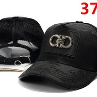 Ferragamo Women Men Embroidery Adjustable Travel Hat Sport Cap