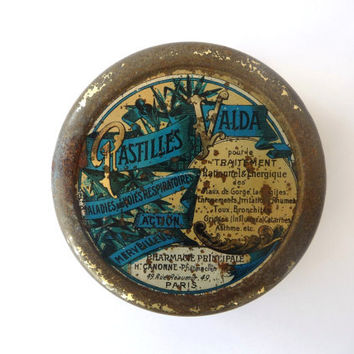 Vintage Metal Box - Pastilles Valda - Made in France