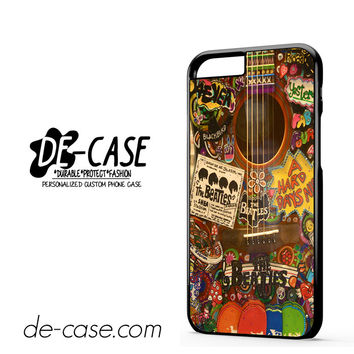 The Beatles Hippie Guitar For Iphone 6 Iphone 6S Iphone 6 Plus Iphone 6S Plus Case Phone Case Gift Present YO