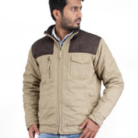Truccer Basiscs Full Sleeve Solid Men's Slim Fit Cotton Winter Jacket - Buy Beige, Dark Brown Truccer Basiscs Full Sleeve Solid Men's Slim Fit Cotton Winter Jacket Online at Best Prices in India | Flipkart.com