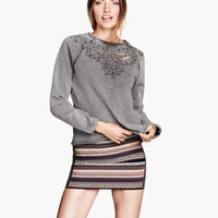 Sweatshirt with Lace - from H&M