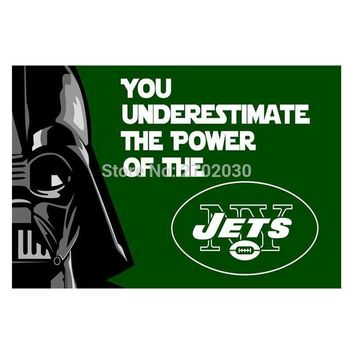 You Underestimate New York Jets Flag Banners Football Team Flags 3x5 Ft Super Bowl World Champions Banner World Series Custom