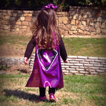 Cape childrens cape dress up girls cape super hero costume, party favors, girls birthday present