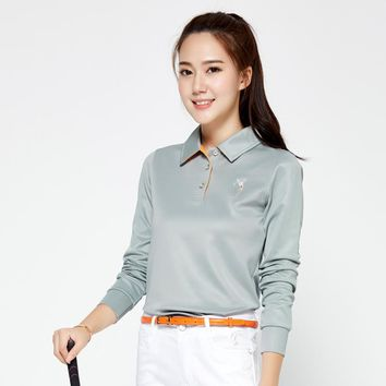Brand POLO Ladies Golf Sexy Shirts Women Long-sleeve