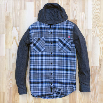 Granite Hybrid Hooded Flannel