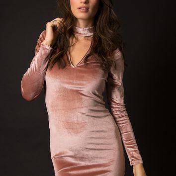 Lyla Velvet Fitted Dress